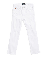 Big Girls Release Hem Crop Twill Ankle Pants