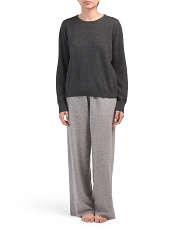 Wool & Cashmere Sweatshirt And Pant Set