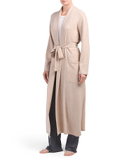 Long Wrap Cashmere Blend Robe