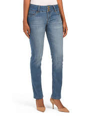 High Waist Triple Button Jeans