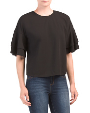 Layered Sleeve Double Crepe Top