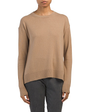 Wool And Cashmere Boxy Pullover Sweater