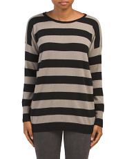 Cashmere Wide Stripe Sweater
