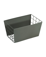 Medium Tapered Metal Storage Bin