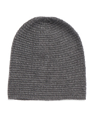 Merino Wool Cashmere Blend Cable Hat
