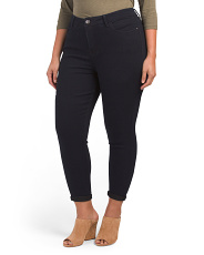 Plus Signature Convertible Cropped Jeans