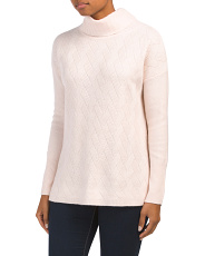 Cashmere Turtleneck Stitch Sweater