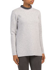 Cashmere Mock Neck Tunic Sweater