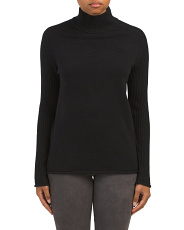 Cashmere Ribbed Raglan Sleeve Sweater