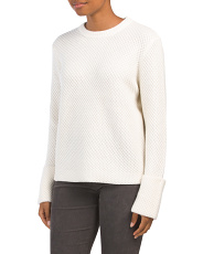 Cashmere Sweater With Cuffed Sleeves
