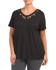 Plus Cut Out V-neck Tee