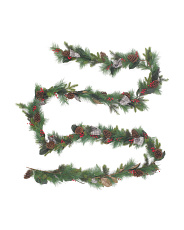 20ft Light Grey Ribbon Cone Berry Garland