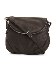 Natalie Flap Leather Crossbody