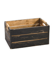Made In Phillipines Small Wood Storage Crate