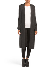 Cashmere Duster Cardigan With Pockets