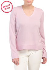 V-neck Cashmere Pullover Sweater