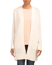 Cashmere Open Front Belted Cardigan