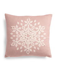 18x18 Velvet Snowflake Pillow
