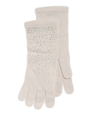 Bejeweled Cashmere Gloves