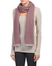 Cashmere Tipped Travel Scarf