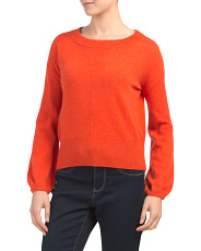 Balloon Sleeve Cashmere Sweater