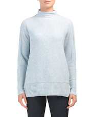Juniors Marled Funnel Neck Sweater