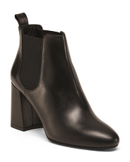 Made In Italy Chelsea Leather Booties