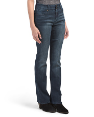 Double Button Skinny Bootcut Jeans
