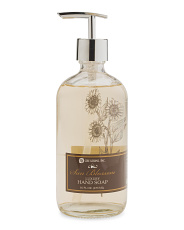 16oz Glass Sun Blossom Hand Soap