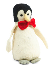 Made In India 9in Felt Penguin
