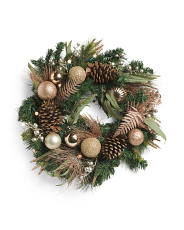 26in Blush Plat Ball Wreath
