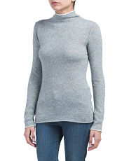 Roll Mock Neck Cashmere Sweater