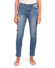 Sadie Skinny Jeans With Embroidery