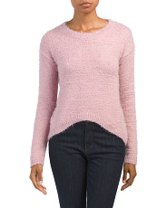 Juniors Cropped Pullover Sweater