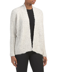 Made In Italy Fuzzy Textured Cardigan