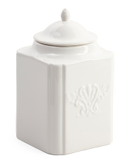 Made In Portugal Patine Scrolled Canister