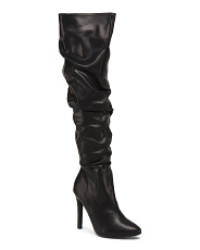 Slouchy High Heel Dress Boots