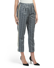 Juniors Menswear Plaid Stripe Trousers