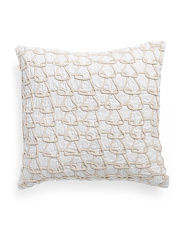 Made In India 20x20 Trellis Rope Pillow