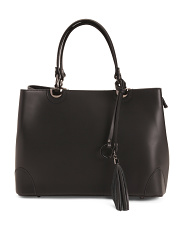Made In Italy Leather Satchel