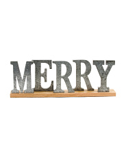 Decorative Merry Sign