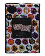 Halloween Buttons Trick Or Treating Pillowcases