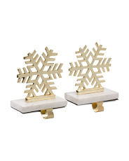 Made In India Set Of 2 Snowflake Stocking Holders