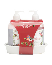 Cranberry Frost Lotion And Hand Wash Caddy