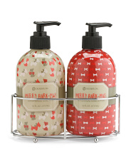 Merry Bark-mas Lotion And Wash Caddy