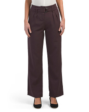 Juniors Belted Wide Leg Trousers