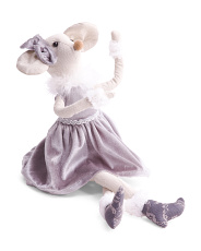22in Sitting Ballerina Mouse Decor