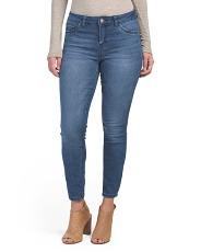 High Waist Denim Ankle Jeans