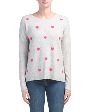 Heart Print Sweater