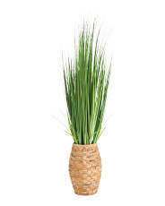 41in Grass In Woven Pot